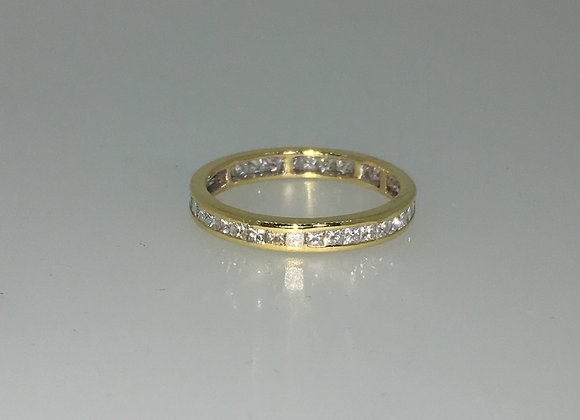 Eternity Diamond Band in 18K Yellow Gold