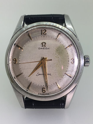 Omega Seamaster Manual Cal 284 Rare Two-Tone Pie Pan Dial Gents' Watch
