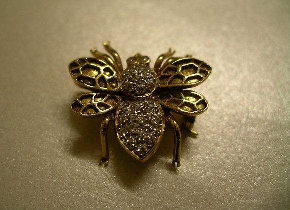 Gold & Diamond Brooch
