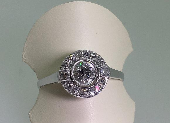18K Gold & Platinum 0.80ct Old-Cut Diamond Ring