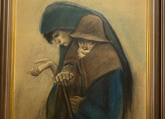 Pastel Painting by Alfred Opisso (Spanish, 1907–1980)