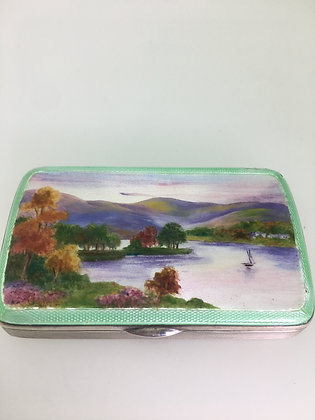 Continental 925 Sterling Silver & Enamel Box