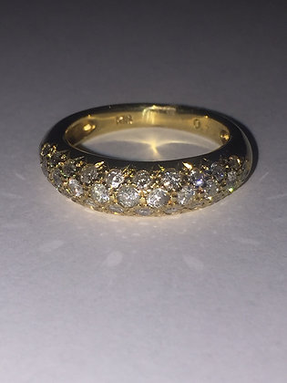 Diamond 6mm Band in 18K Yellow Gold