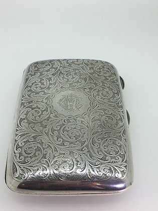 An Antique circa 1898 HMSS 925 Sterling Silver Cigar Case