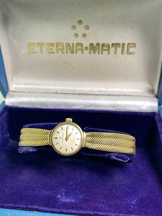 Eternamatic 18K Yellow Gold Vintage Ladies' Bracelet Watch