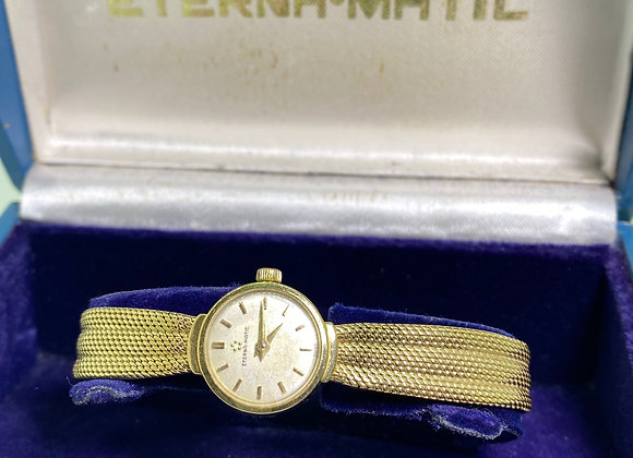 Eternamatic 18K Yellow Gold Vintage Ladies' Bracelet Watch