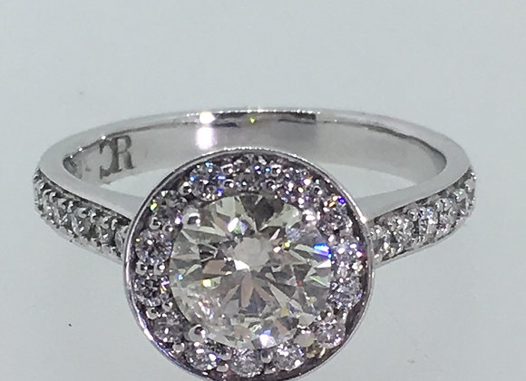 1.19ct Solitaire with Accents Diamond Engagement Ring