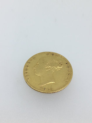 Very Rare c1851 22K Gold British Half Sovereign