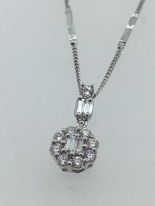 Gold & Diamond Pendant on a Matching Chain
