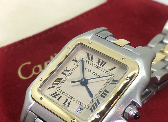 "Cartier ""Panthere"" 18K Gold & Steel ref: 83949029446 Midsize Watch"