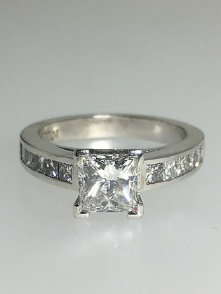 1.01ct Princess Cut Diamond Engagement Ring by Anton Jewelry