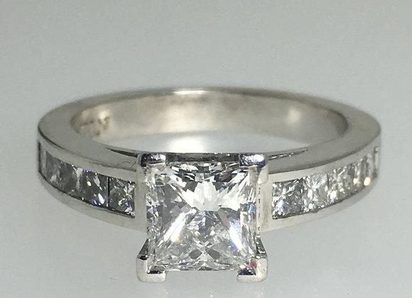 1.01ct Princess Cut Diamond Engagement Ring by Anton Jewelry