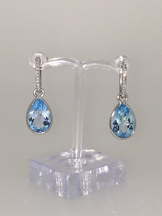 Topaz & Diamond Drop earrings