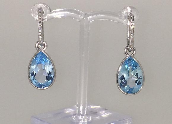 Topaz & Diamond Drop earrings