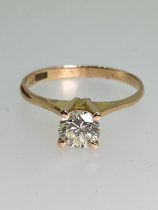 0.50ct Solitaire Diamond Ring in 18ct Yellow Gold