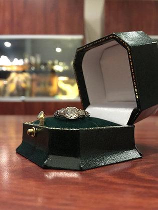 An Art-Deco Platinum & Diamond Ring