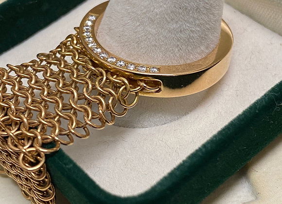 18K Rose Gold & Diamond 'Follow Me' Ring by Roger Dubuis