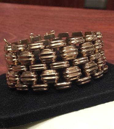 5 Row 26mm Wide Rose Gold Bracelet