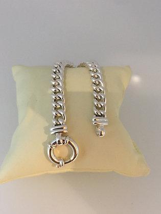 925 Silver Hollow Curb Bracelet