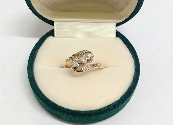 Uniquely Designed 3-Stone Diamond Ring