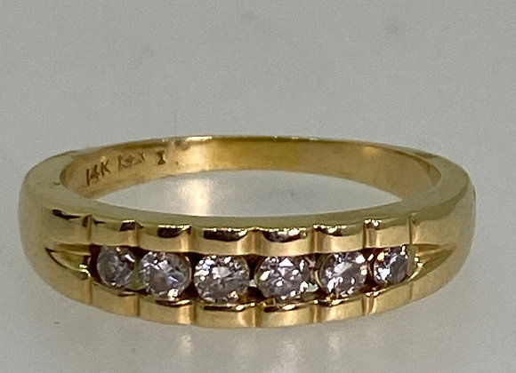 0.50ct Diamond Channel Set Band in 14K Yellow Gold