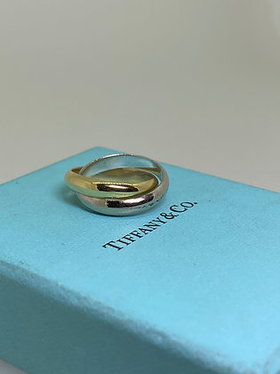 Paloma Picasso Tiffany & Co. 18K Gold Two-Tone Melody Rolling Band Ring