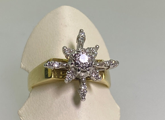 Star Shaped Diamond Cocktail Ring