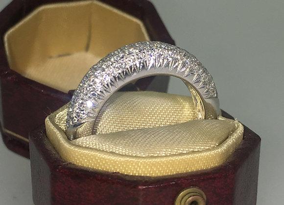 Vintage Diamond Ring set with Single Cut Diamonds