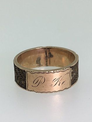 14K Rose Gold Memorial/Dedication Austro-Hungarian 8mm Gents' Band