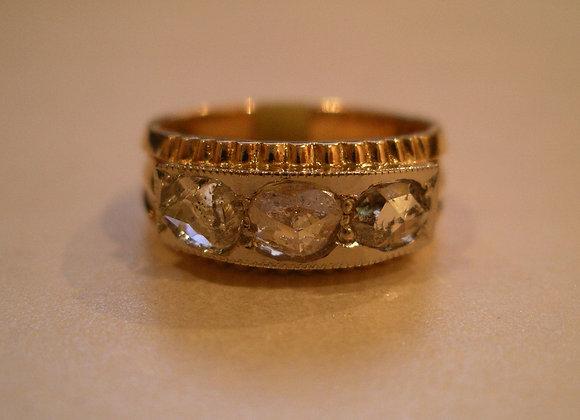 14K Rose Gold Rough Diamond ring