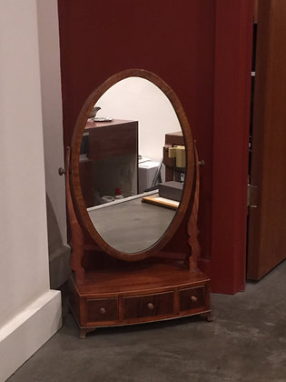 Antique Solid Red Mahogany Dressing Mirror