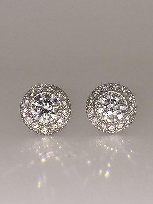 An Impressive Diamond Stud Earrings