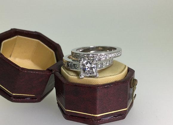 Princess Cut Diamond Ring + Matching Band