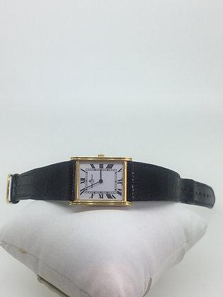 18K Yellow Gold Baume & Mercier Geneve Rectangular Watch