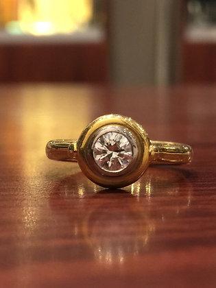 0.40ct Round Diamond Solitaire Ring