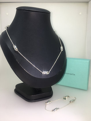 "Tiffany & Co 925 Silver Elsa Peretti ""Seahorse by the Yard"" Necklace & Bracelet"