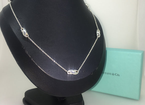 """Tiffany & Co 925 Silver Elsa Peretti """"Seahorse by the Yard"""" Necklace & Bracelet"""