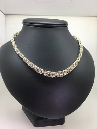 925 Sterling Silver Graduated Birdcage Chain/Necklace