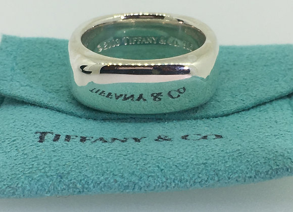 2003 Tiffany & Co 925 Sterling Silver Cushion Square Band