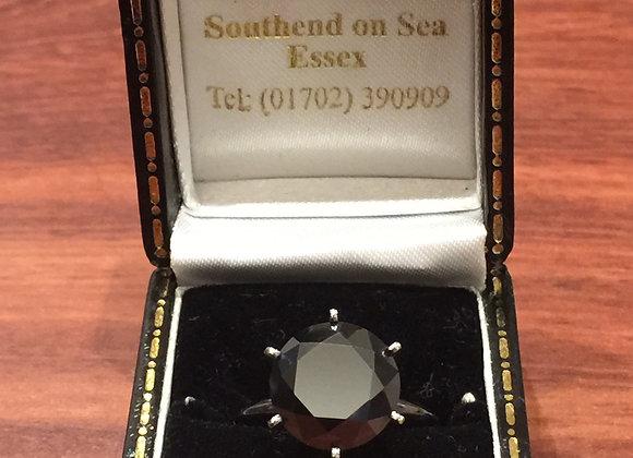 Fancy Black 6.00ct Diamond Ring in 14K Gold