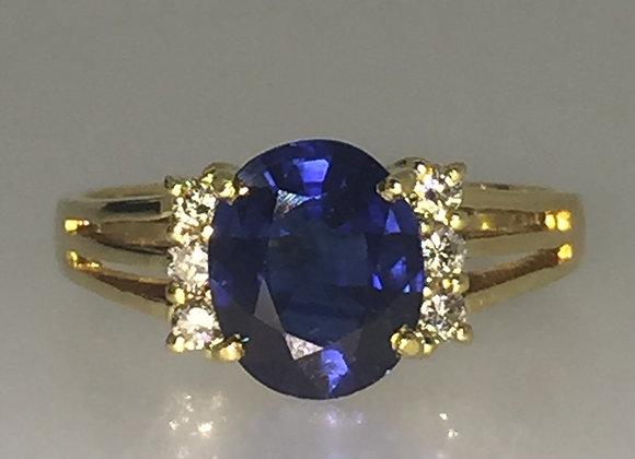 2.00ct Sapphire & Diamond Vintage Ring
