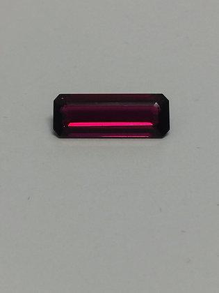 Baguette Cut 4.50ct Loose Purple/Dark Red Natural Tourmaline