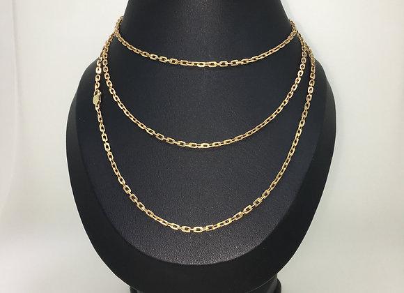 1930's 14K Rose Gold 110cm Muff Chain