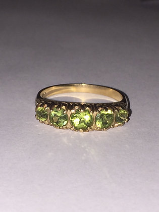 Gold & Peridot Vintage ring
