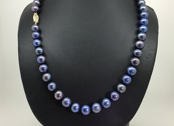 Tahitian Pearl Necklace with 14K Yellow Gold Clasp