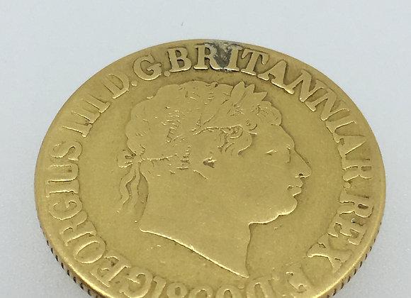 Rare 22K Gold British Sovereign Coin, c 1820