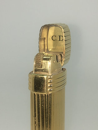 Gold-Plated Christian Dior Vintage Mens' Lighter