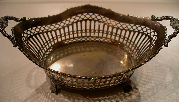 Antique Dutch Silver Chocolate/Sweets basket.