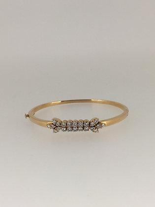 18K Yellow Gold & Diamond Bangle