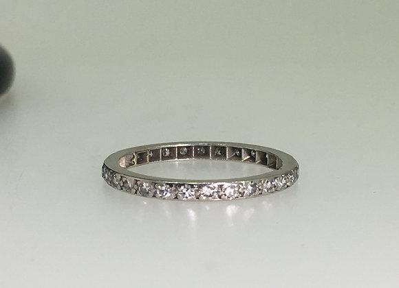 Platinum & Rose Cut Diamond Full Eternity Band